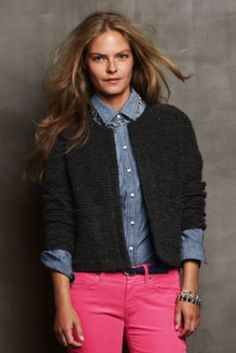 """Women's Cropped Nubby Knit Jacket from Lands' End Win $100 in points! Have you seen the Sweepstakes will encourage you to choose a """"Personal Shopper"""", a free service SYW offers. As a Concierge Personal Shopper for SYW, I can assist you with questions, help you locate great items, send you additional, cost saving coupons and save you time. I would love to have you as a client  http://ps.syw.net/invite/lisagutman"""
