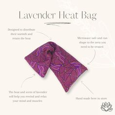 lavender heat bag Heat Bag, Essential Oils, Lavender, Essentials, Essential Oil Uses, Essential Oil Blends