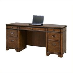 Lowest price online on all Kathy Ireland Home by Martin Kensington Computer Credenza in Warm Fruitwood - IMKE689