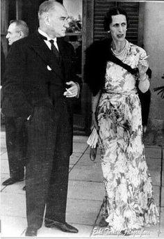 Atatürk ve İsveç prensesi Louise..