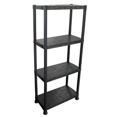 The Modern Homes Storage Unit is perfect for the home, office or shop. Designed with durable plastic and adjustable feet. It is a great storage solution and easy for anyone to assemble. Garage Shelving Units, Pantry Shelving, Steel Shelving, Plastic Shelving Units, Plastic Storage, Sauder Woodworking, Metal Storage Racks, Narrow Shelves, Office Storage