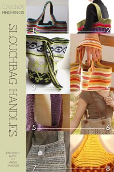 Crochet shoulderbag | different handle styles | free patterns available