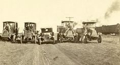 A fleet of state vehicles North Platte - 1920's | pinned by haw-creek.com