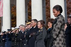 Delivering remarks at the Memorial Amphitheater at Arlington National Cemetery, Nov. 2011.