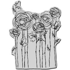 Stampendous 4 x Cling Rubber Stamp Sheet-Ranunculus Field Ranunculus Wedding, Ranunculus Bouquet, Ranunculus Centerpiece, White Ranunculus, Wedding Bouquet, Cross Hatching, Ink Stamps, Penny Black, Drawing Techniques