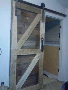 My diy new bathroom door...made from pallets