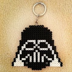Darth Vader keychain hama beads by montse_akane