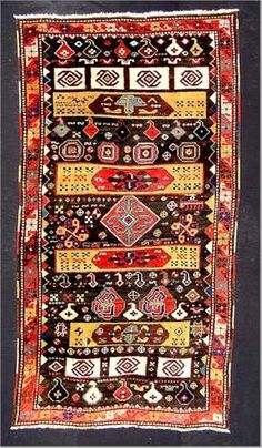 Zakatala is a predominiently Inglio area but is about one quarter Azeri Turk and historically there has been an Armenian population. The rugs tend to have less commercial influence and give us clues into pre-commercial Caucasian rugs.