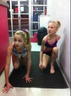 dance moms chloe and paige I wonder what they are doing. Hiding from Abby?