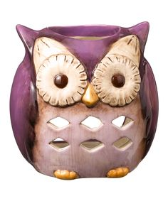 Purple Owl Candleholder is so adorable