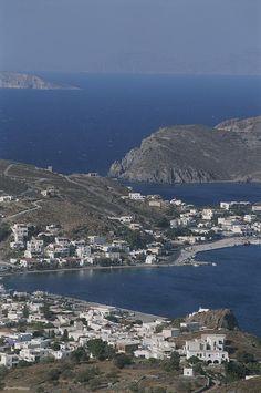 ✭ An aerial view of the coastal village of Skala, on Patmos Island - Greece