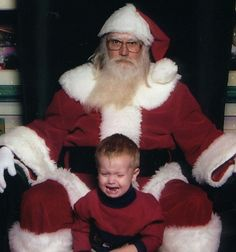 80s glasses look weird on Santa. Also, Santa looks a little like Mark Borchardt from American Movie (then again, maybe it's just the 80s glasses).