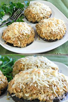 Crab Stuffed Portobello Mushroom Recipe. Get this  mouth-watering recipe by clicking the picture. www.thisolemom.com