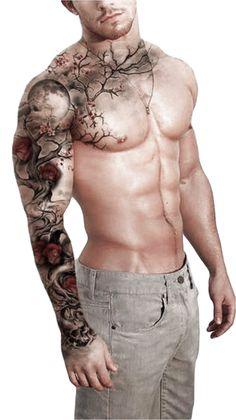 tattoo sleeve men color \ tattoo sleeve men ` tattoo sleeve men half ` tattoo sleeve men arm ` tattoo sleeve men ideas ` tattoo sleeve men old school ` tattoo sleeve men forearm ` tattoo sleeve men half forearm ` tattoo sleeve men color Badass Sleeve Tattoos, Tree Sleeve Tattoo, Full Sleeve Tattoos, Tattoo Tree, Tiger Tattoo Sleeve, Tattoo Sleeves, A Tattoo, Full Body Tattoo, Tattoo Wolf