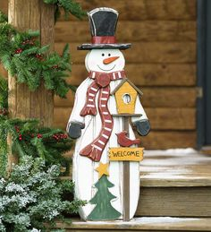 Rustic Wooden Snowman Welcome Accent, Multi Christmas Yard Art, Christmas Wood Crafts, Small Christmas Trees, Christmas Signs, Christmas Projects, Handmade Christmas, Holiday Crafts, Christmas Ornaments, Holiday Decor