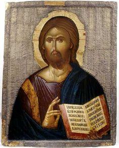 Jesus Christ Pantokrator (the Saviour). Byzantine Icons, Byzantine Art, Religious Icons, Religious Art, Anima Christi, Images Of Christ, Image Icon, Art Icon, Orthodox Icons