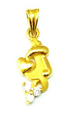 Gold Heart Pendant New Fancy Design Bis Hallmark 22k(916 Gold Purity) Light Wt