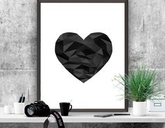 Hey, I found this really awesome Etsy listing at https://www.etsy.com/listing/240210988/abstract-printable-art-black-heart