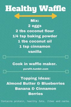 Healthy Waffle Recipe!! ^-^