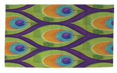 Peacock Pattern 10 Area Rug