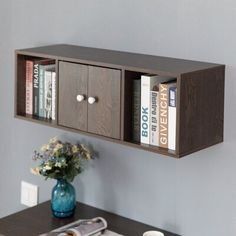 Modular Workstations, Modern Tabletop, Brown Walls, Storage Cabinets, Clutter Organization, Cubbies, Adjustable Shelving, Colorful Decor, Wall Shelves