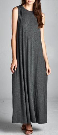 Billie Dress in Charcoal