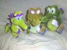 """Where's my Water - Allie - Swampy & Cranky - 3 -7"""" Beanie game characters - new"""