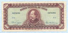 Banknote: Chile 10 Esc./10000 Pesos 1960-61 P131 Vf
