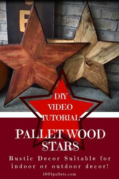 Pallet Wood Stars Indoor or outdoor stars made of recycled pallet wood slats. The post Pallet Wood Stars appeared first on Pallet Ideas. Pallet Furniture Designs, Wooden Pallet Projects, Wooden Pallet Furniture, Wooden Pallets, Pallet Wood, 1001 Pallets, Pallet Benches, Pallet Ideas, Pallet Couch