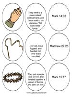 Printable Resurrection Eggs (3 eggs per day--picture, text, verse)
