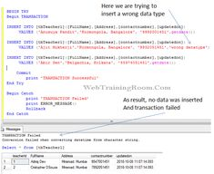 SQL Transaction Example, How to use Transaction in SQL Server Sql Commands, Sql Tutorial, Sql Server, Reading Levels, Being Used, Writing, Being A Writer