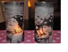 DIY :How to Make Picture Candle Holders.