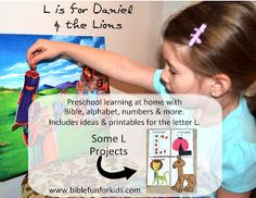 L is for Daniel & the Lions with letter L printables