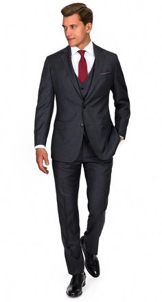 Charcoal Pick   Pick 3 Piece Suit  menssuitsgrey 67370cdca1b