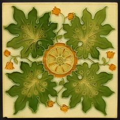 TH2776 Pilkington Art Nouveau / Gothic Majolica Tile c.1902 #ArtNouveau