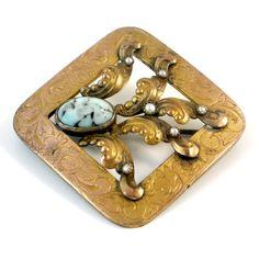 Antique+Victorian+Gold+GF+Stone+Pearl+Sash+Pin+por+laurenrosedesign,+$110.00