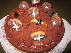 Halloween chocolate-cake