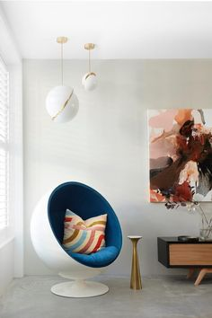 An inspired approach to colour in a vibrant Victorian terrace | Inside Out Indoor Water Features, U Shaped Kitchen, Victorian Terrace, Cole And Son, Vintage Sofa, Color Psychology, Pink Walls, Red Paint, Exposed Brick
