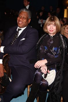 Vogue's André Leon Talley and Anna Wintour at YSL F05
