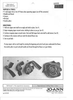 zipper brooch tutorial