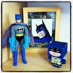 Some of my collection, a Mego Batman in fab condition! A cubeecraft Batman I made and a framed piece I drew a while back :-) My Collection, Batman, Draw, Fictional Characters, To Draw, Drawings, Paintings, Tekenen, Paint
