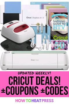 The only thing better than great Cricut materials and machines is getting a deal on them! We will keep you up to date on the latest deals and promo codes so you know you're getting the best deal… More