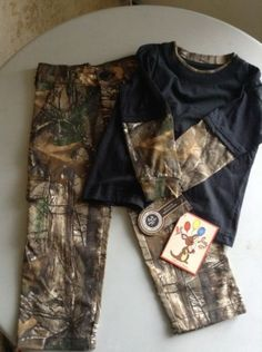 NWT LIL JOEY REAL TREE CAMO TWO PIECE OUTFIT SZ 3T
