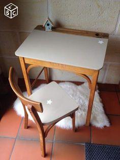 Ancien bureau d'écolier vintage Ameublement Gironde - leboncoin.fr