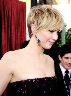 Jennifer Lawrence Layered Pixie Hair