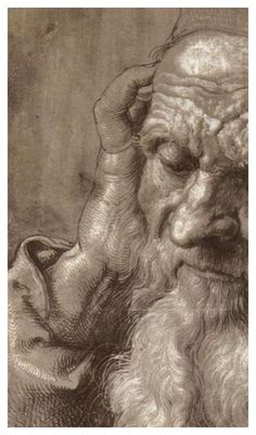 Albrecht Durer  Man Aged 93 (brush & ink on paper), 1521  detail