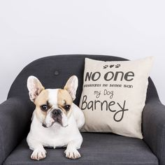 personalised pet cushion cover by vintage designs reborn | notonthehighstreet.com