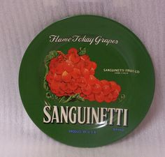 Oneida Vintage Label Collection Plate Sanguinetti Tokay Grapes