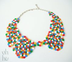Geeky LEGO collar by UHHU on Etsy, €15.00