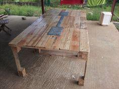 Plus de 1000 id es propos de palette sur pinterest - Fabriquer une table a manger en palette ...